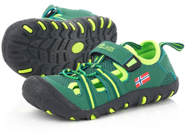 TROLLKIDS Sandefjord Sandalias Niños, dark green/light green